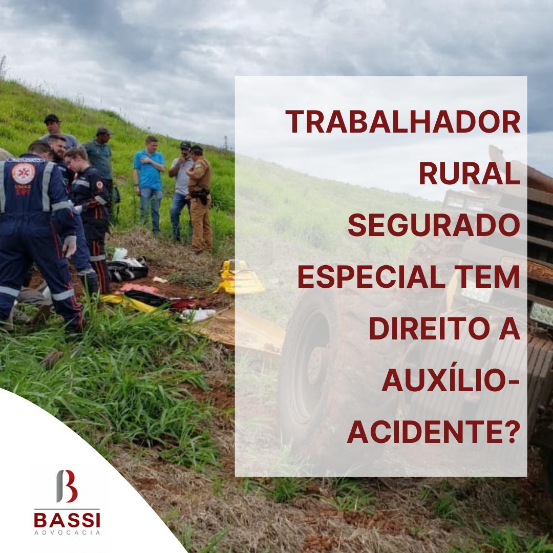 Read more about the article Trabalhador rural segurado especial tem direito a auxílio-acidente?