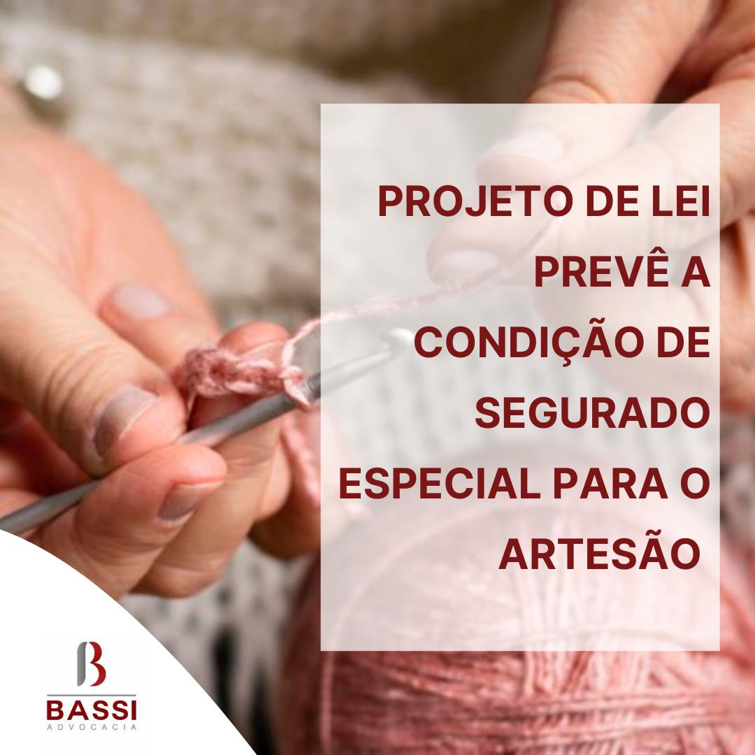 Read more about the article PL 1919/2021 prevê a condição de segurado especial para o artesão.