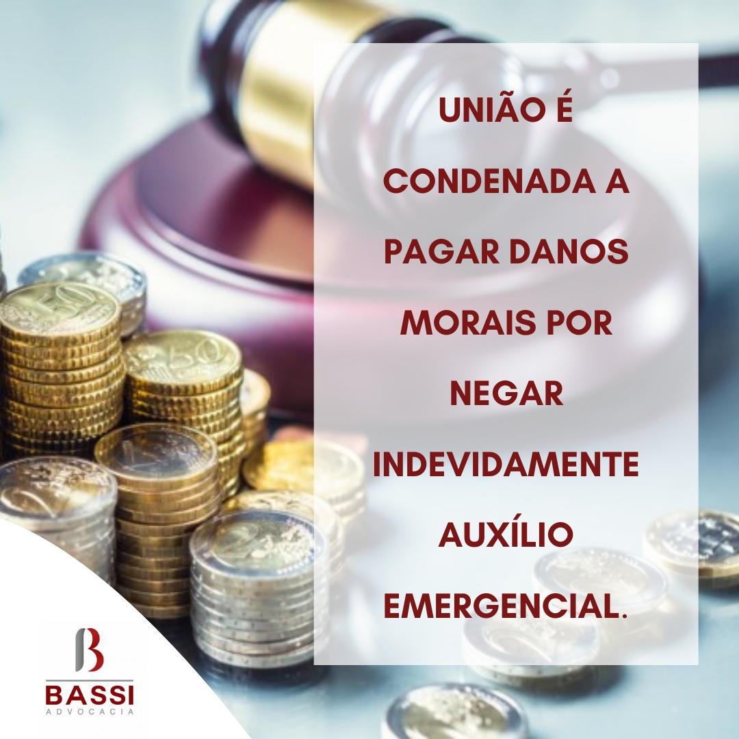Read more about the article União é condenada a pagar danos morais por negar indevidamente auxílio emergencial.